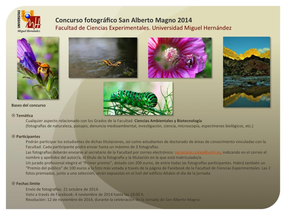 Concurso Fotografía San Alberto Magno 2014